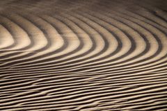 Wind blowing over sand dunes stock images