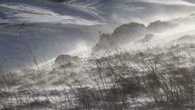 Wind blowing on the snow in the mountains in Abruzzo. stock video