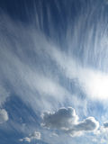 Wind-blown clouds in the sky Royalty Free Stock Images
