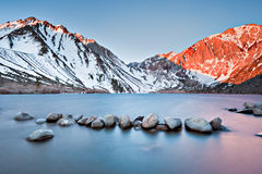 Wind Blown, Convict Lake. Sunrise over Convict Lake off the famous highway 395 in the eastern Sierras Royalty Free Stock Image