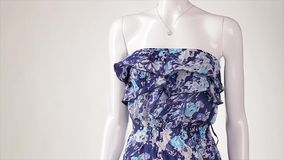 Wind blows on the dress. stock footage