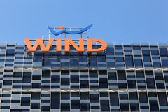 Wind bulding in Milano, Italy Stock Images