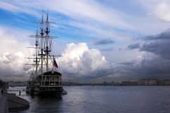 Wind of change. St Petersburg Russia river Neva stock photos