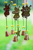 Wind chime. With angels and bells Stock Photography