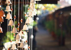 Wind chime. bells hanging ornament Stock Photos