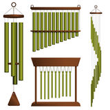 Wind chime collection Stock Photo