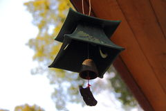 Wind chime. Hanging under the eaves by the wind chimes, giving off a sweet sound Stock Image