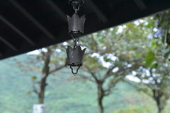 Wind chime on Mont Taroko. Shape like the the hat of monk Stock Photography