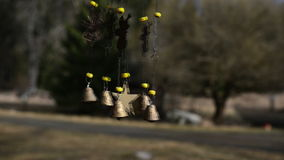 Wind chimes stock video