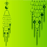 Wind Chimes. Design element Stock Image