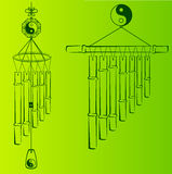 Wind Chimes. Design element Stock Photo