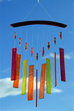 Wind chimes of glass. A wind chimes made of glass, pearls and vivid colours Stock Photography