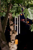 Wind chimes at night Stock Photo
