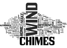Wind Chimes Word Cloud Stock Photography
