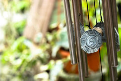 Wind chimes. A Yin Yang wind chimes Royalty Free Stock Photo