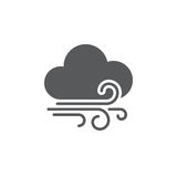 Wind and clouds weather icon isolated on white background. Vector illustration. Wind and clouds weather icon isolated on white background. Vector illustration Royalty Free Stock Photo