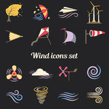 Wind Color Flat Icons Royalty Free Stock Photo