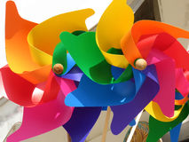 Wind colorful carousels Stock Images