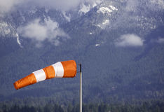 Wind cone. Against a mountain background Stock Images