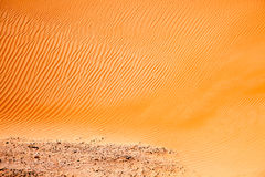 Wind created patterns in the sand dunes of Liwa oasis, United Arab Emirates Stock Photography