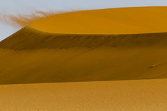 Wind on the crest of a of red dune in the Namib Desert, Sossusvl Stock Photos