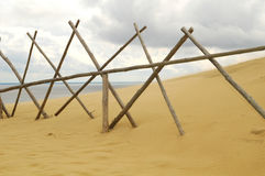 Wind & Curonian Dune. WInd in Curonian Sand Dunes, Lithuania Stock Photography