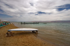 Wind on the Dead Sea Stock Photo