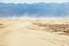 Wind in desert of Death valley Stock Photos