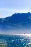 Wind die in Riva Del Garda surfen royalty-vrije stock foto