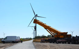 Wind-driven σταθμός ηλεκτρικής δύναμης Στοκ φωτογραφίες με δικαίωμα ελεύθερης χρήσης