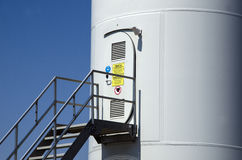 Wind-driven electric power station stock photo