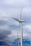 Wind-driven generator with blue sky Stock Images