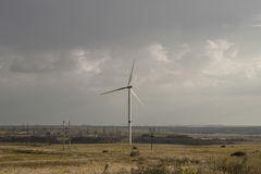 Wind-driven generator of Donbass Stock Image