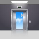 Wind drzwi Zdjęcie Royalty Free