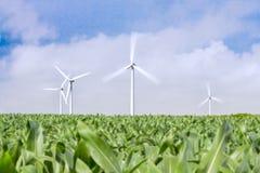 Wind, een duurzame energie stock fotografie