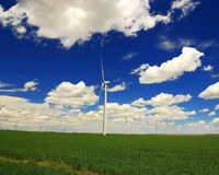Wind Electric Generators Royalty Free Stock Photography