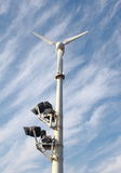 Wind electricity generator Royalty Free Stock Photo