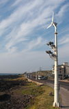 Wind electricity generator by street Stock Images