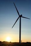 The wind electrogenerator. Sunset in Paldiski, Estonia, with wind electrogenerator Royalty Free Stock Image