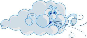 Wind en Wolk vector illustratie