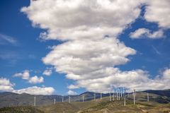 Wind, endless energy and beautiful landscapes with clouds royalty free stock photos