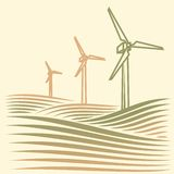Wind energie stock photography