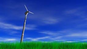 Wind-Energie-Energie-Turbine vektor abbildung