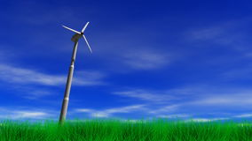 Wind-Energie-Energie-Turbine lizenzfreie abbildung