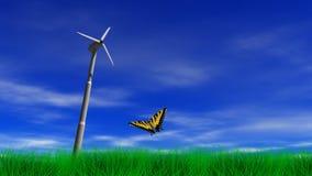 Wind-Energie-Energie-Turbine stock abbildung