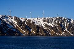 Wind-Energie in Norwegen Stockfoto