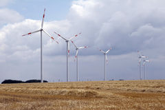 Wind energy 01. Wind energy in landscape stock photos