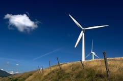 Wind energy. Varese Ligure (Sp),Liguria,Italy,center of wind energy Stock Photo
