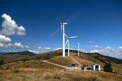 Wind energy. Varese Ligure (Sp),Liguria,Italy,center of wind energy Stock Image