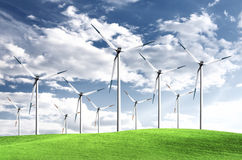 Wind energy Stock Image